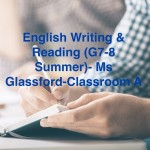 Group logo of English writing & reading (G7-8 Summer)-Ms Glassford-Classroom A