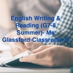 Group logo of English writing & reading (G7-8 Summer)-Ms Glassford-Classroom B