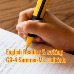 Group logo of English reading & writing G3-4 Summer-Monday-Ms. Ayala