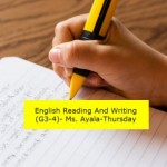 Group logo of English reading & writing G3-4 Summer-Thursday-Ms. Ayala
